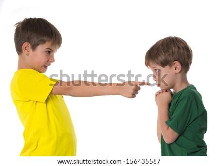 child arguing - stock photo