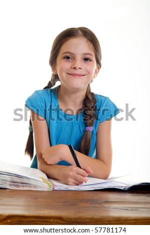 child at school - stock photo