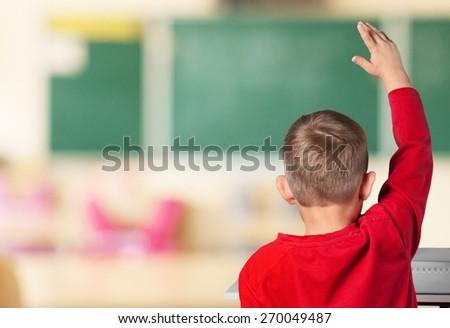 Child, Classroom, School. - stock photo