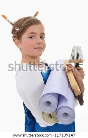 Child decorator - stock photo