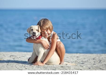 child dog - stock photo