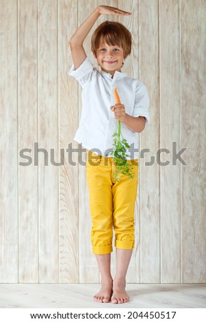child grows - stock photo
