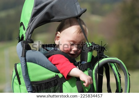 Child in Baby Hiking - stock photo