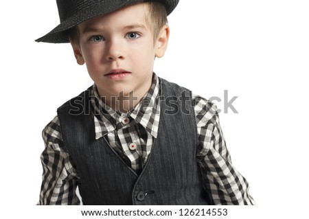 Child in hat - stock photo