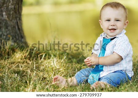 child in nature - stock photo