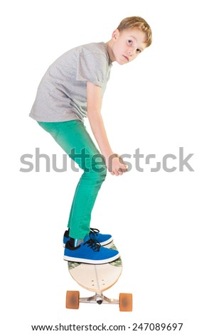 Child on his skateboard - stock photo