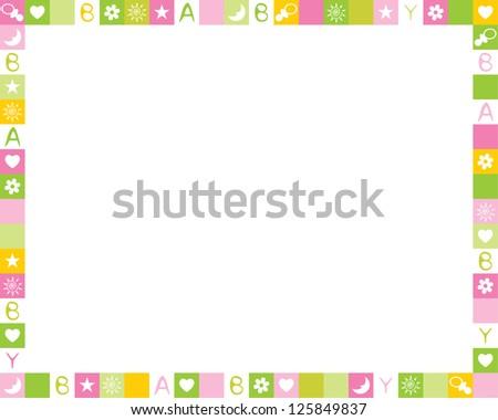 Child photo framework. Raster version, vector file available in portfolio. - stock photo