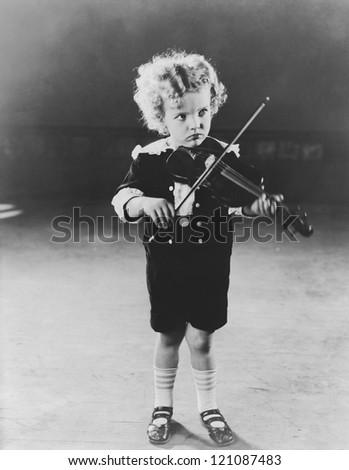 Child prodigy - stock photo