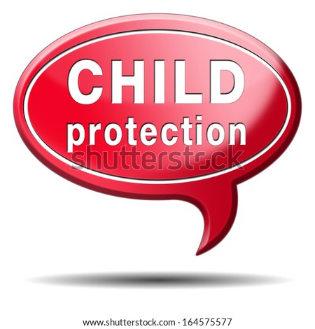 child protection and care give children a safe home and protect them from abuse or domestic violence - stock photo