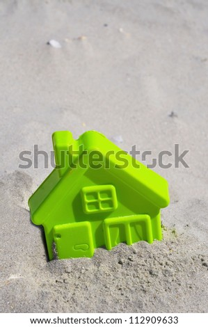 Child's Beach Toy, Beach home concept. Room for your text - stock photo
