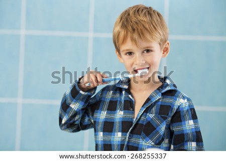 Child's Dental Hygiene - stock photo