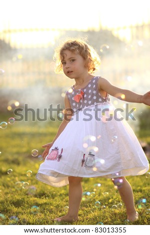 child's play outside - stock photo