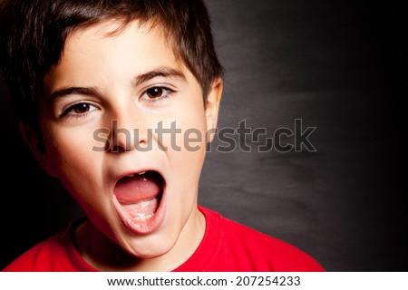 child shouts - stock photo