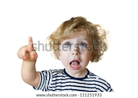 Child showing up - stock photo
