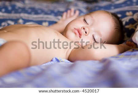Child sleeping - stock photo