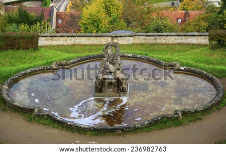 Child statue on the fountain in Bamberg, Germany - stock photo