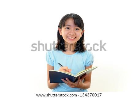Child Studying - stock photo