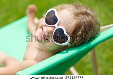 Child summer - stock photo