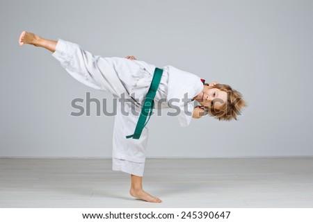 Child taekwondo. series - stock photo