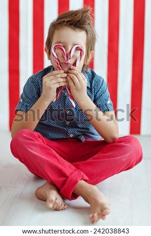 Child Valentine's Day - stock photo