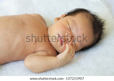 Children aged one month. - stock photo