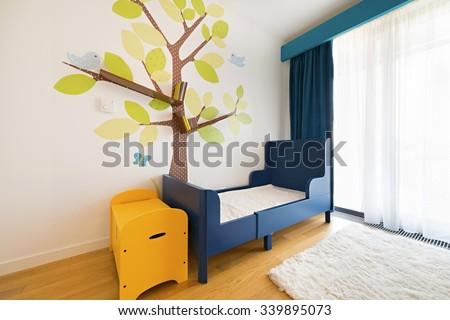 Children bedroom interior furniture - stock photo