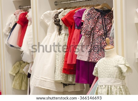 Children clothing store - stock photo