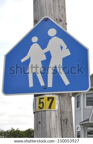 Children crossing sign - stock photo