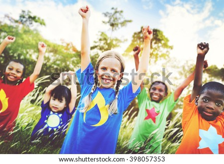 Children Family Enjoyment Playful Summer Casual Concept - stock photo