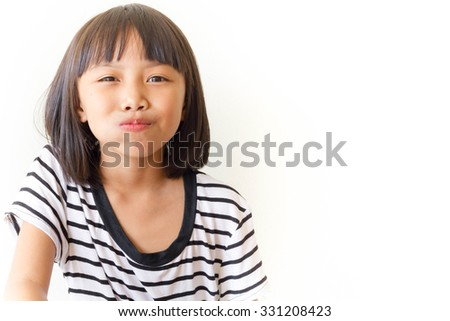 Children girl is enjoy eating - stock photo