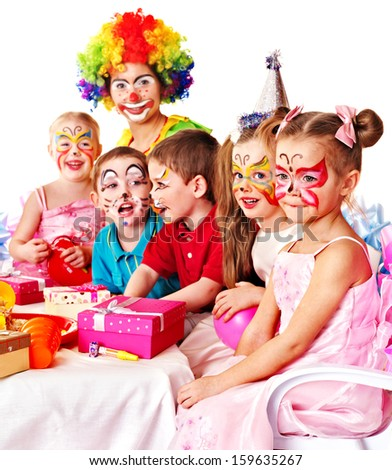 Children happy birthday party . - stock photo