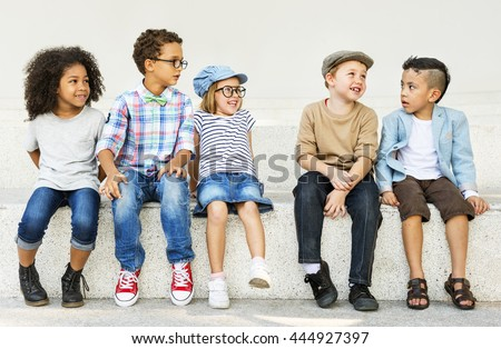 Children Kids Casual Offspring Adorable Youth Concept - stock photo