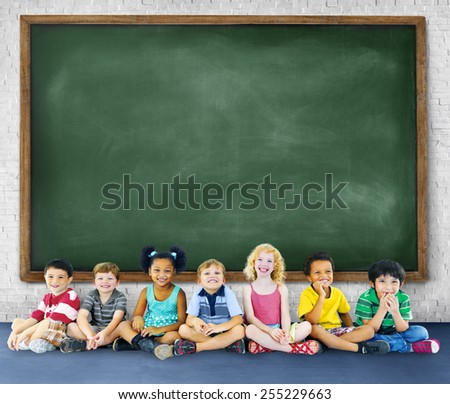 Children Kids Education Learning Cheerful Concept - stock photo