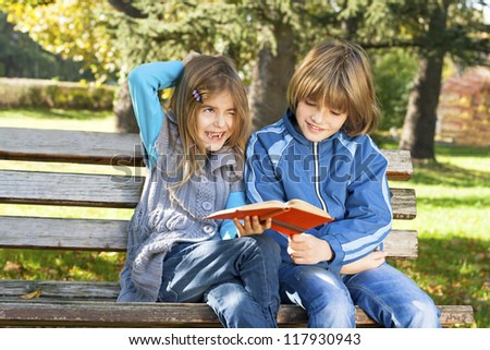 children learn in nature - stock photo