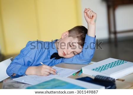 children learn in school. training students, classroom - stock photo