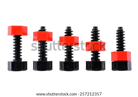 Children nuts and screws - stock photo