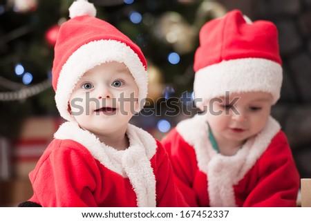Children of Santa Claus - stock photo