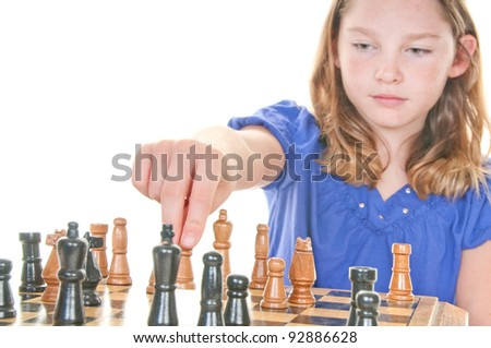 Children playing chess - stock photo