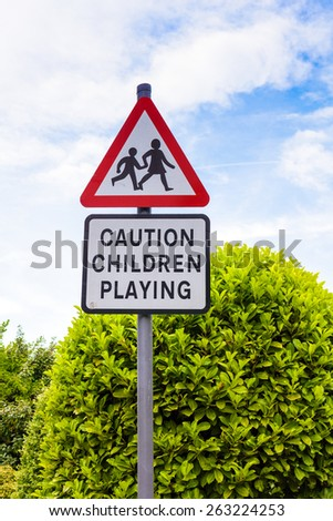 Children playing sign - stock photo