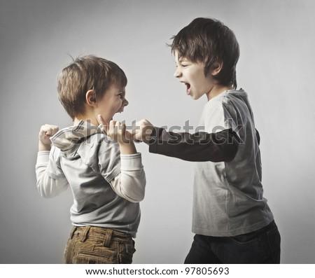 Children quarreling - stock photo