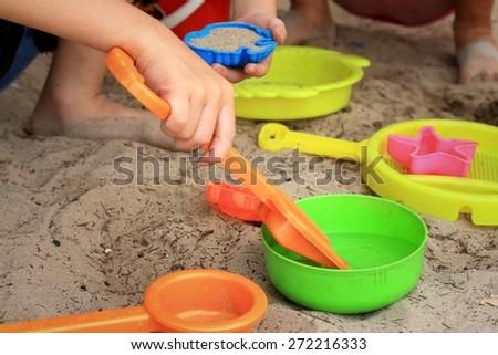 Children's beach toys - stock photo