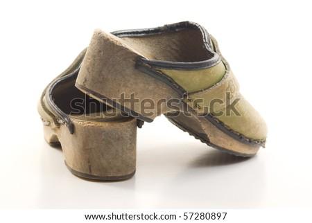 Children's clogs - stock photo