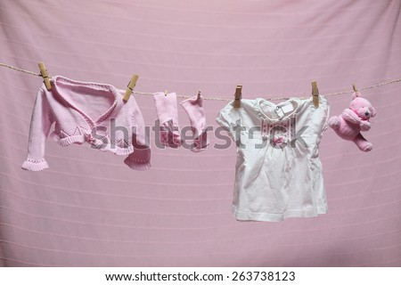 children's clothing - stock photo