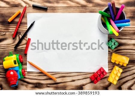 children's drawing blank - stock photo
