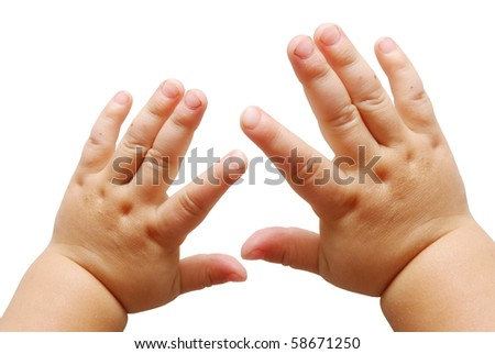 Children's hands - stock photo