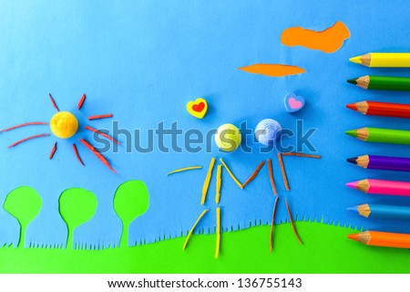 children`s play:people in love - stock photo