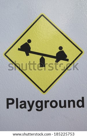 Children's Playground Sign - stock photo