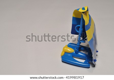 Children's toy boat - stock photo