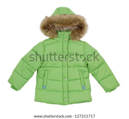 Children's winter jacket - stock photo