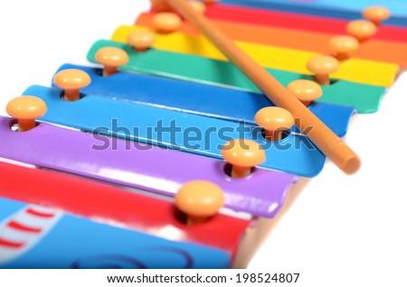 Children's xylophone - stock photo